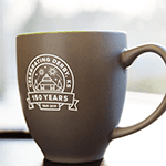 150th coffee mug
